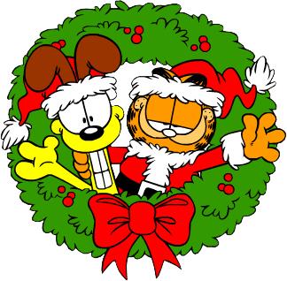 Garfield and Odi Christmas